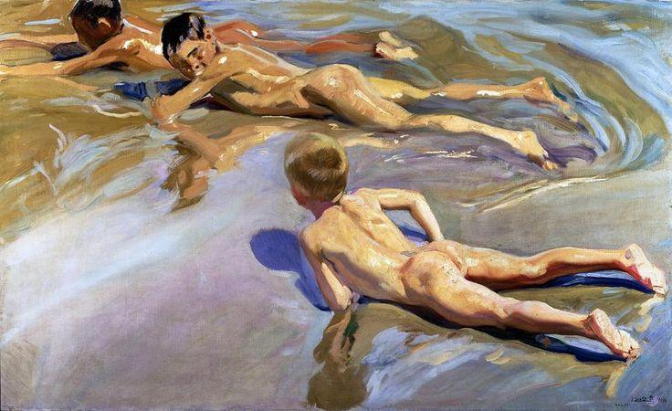 Niños en la playa ~~ Children on the beach. Joaquin Sorolla. ~~ For more:  - ✯ http://www.pinterest.com/PinFantasy/arte-~-pintura-joaqu%C3%ADn-sorolla/