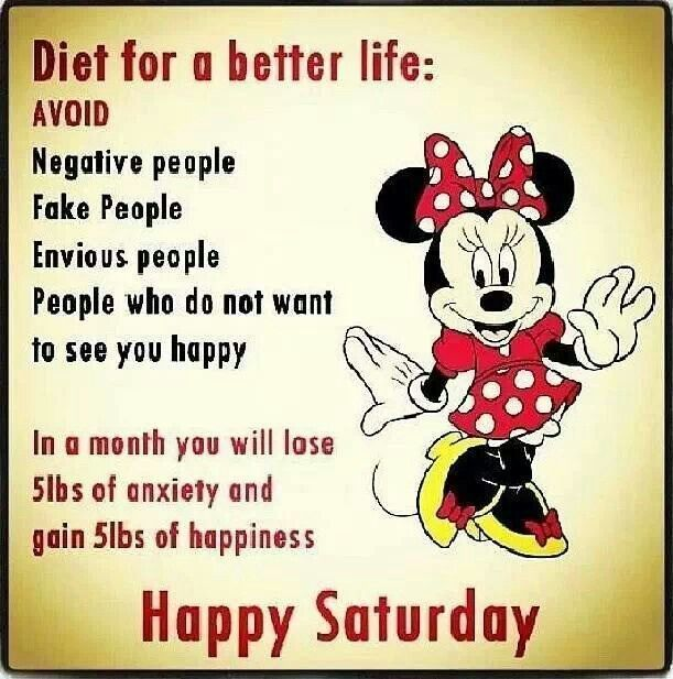 Happy Saturday Diet for a better life