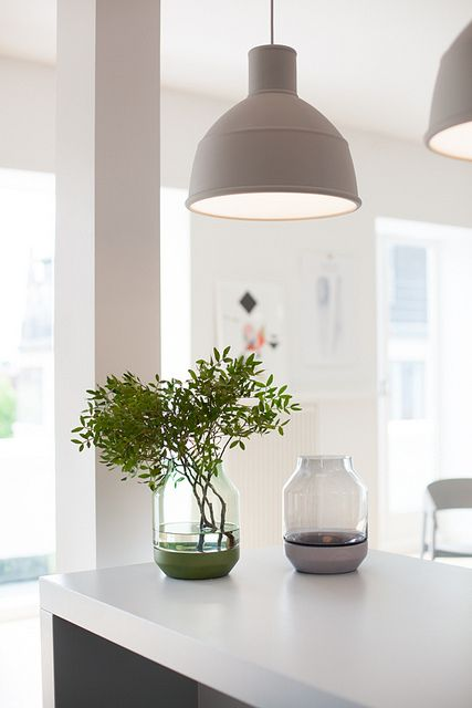 Muuto Unfold Lamp - made of silicone and very flexible but with an industrial styling and colour palette.