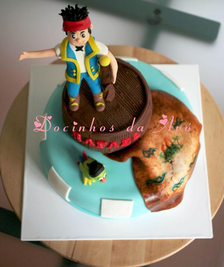Docinhos da Avó - Cake Design: Bolo Pirata Jack