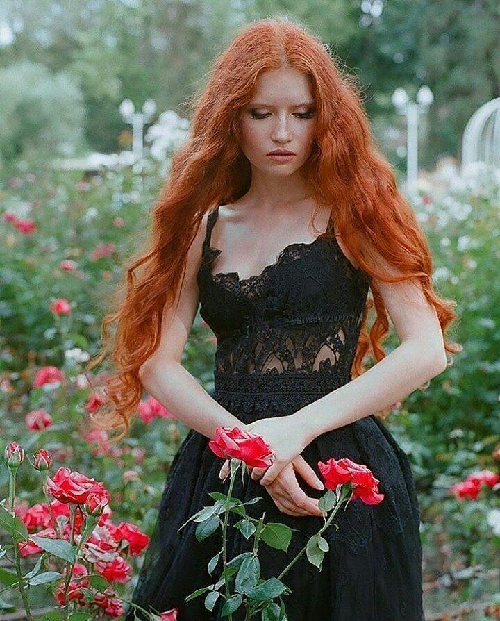 instagram casual cabello rojo