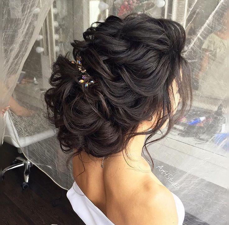 значит, свадебные прически на длинных черных волосах фото потому, что него