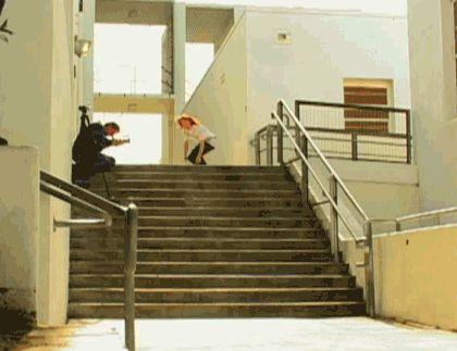 Bryan Herman, skateboarding gif.
