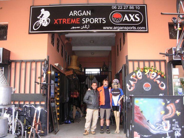 Argan Xtreme sports bike shop. It's a friendly bikeshop in Marrakech