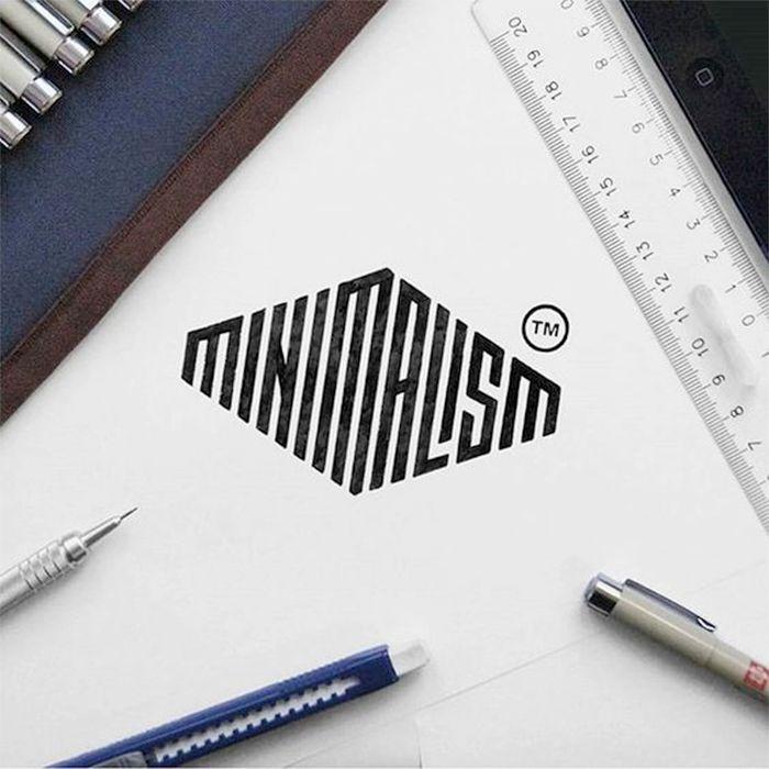 cool typography examples - minimalism