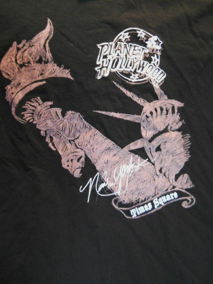 Planet hollywood black tee shirt medium new york times for Planet hollywood t shirt