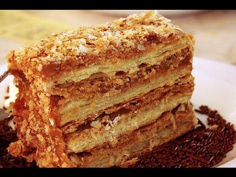 Receta: Torta Hojarasca Crema y mermelada - Silvana Cocina Y Manualidades