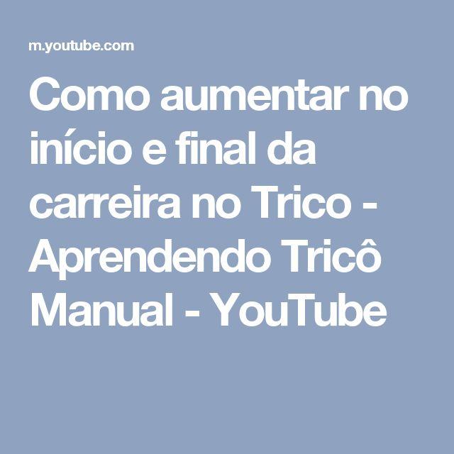 Como aumentar no início e final da carreira no Trico - Aprendendo Tricô Manual - YouTube