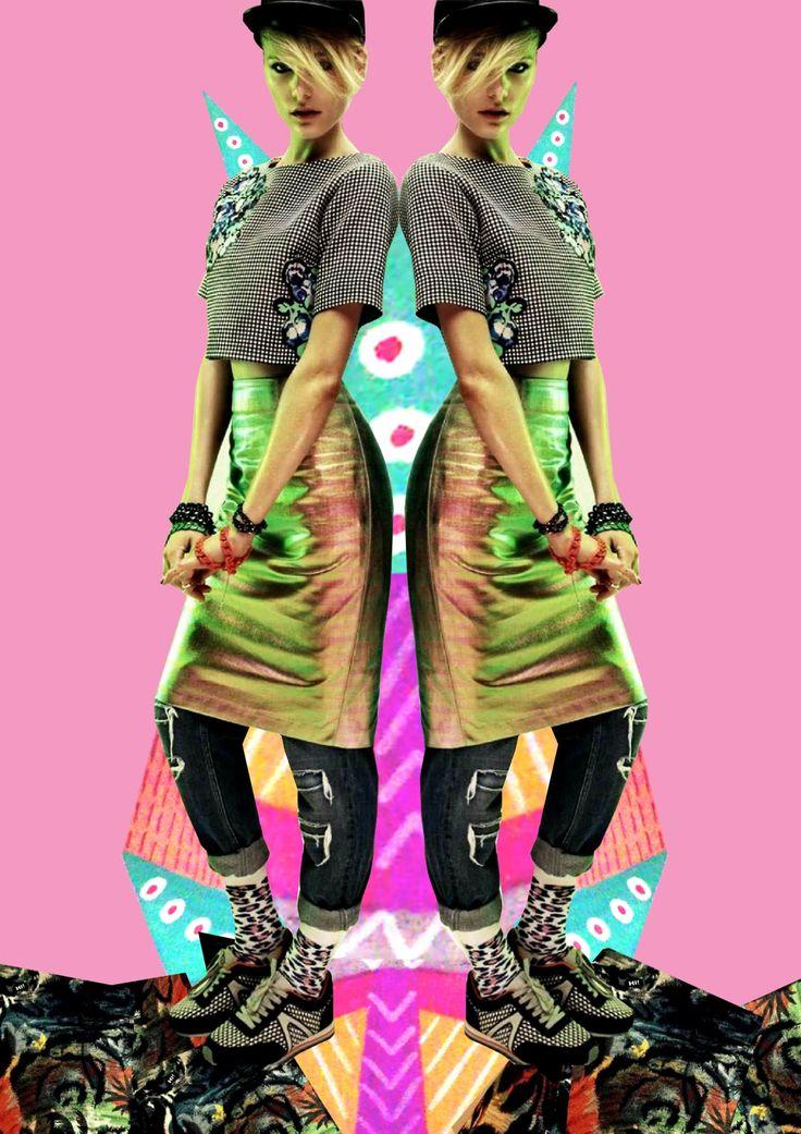 fashion collage, fashion editorial