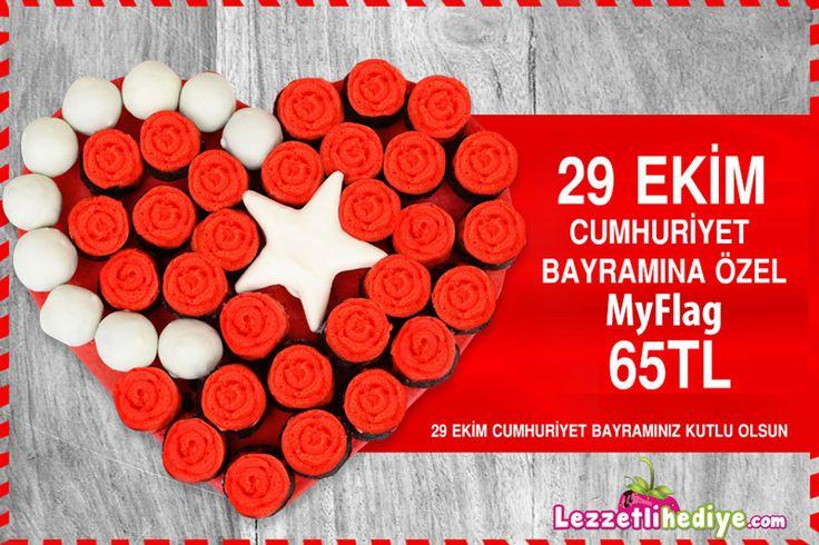 29 Ekim Cumhuriyet Bayramı Kutlu Olsun! http://www.lezzetlihediye.com/lezzet-cicekleri/kek-cicekleri/myflag-lezzetli-hediye bayrama özel tasarlandı.