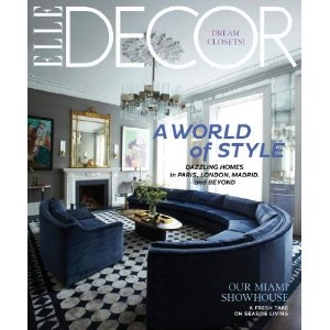 Elle Decor: Interior Design, Blue Velvet, Living Rooms, Elle Decor, Couch, Livingroom, Blue Sofa, Magazines, April 2012