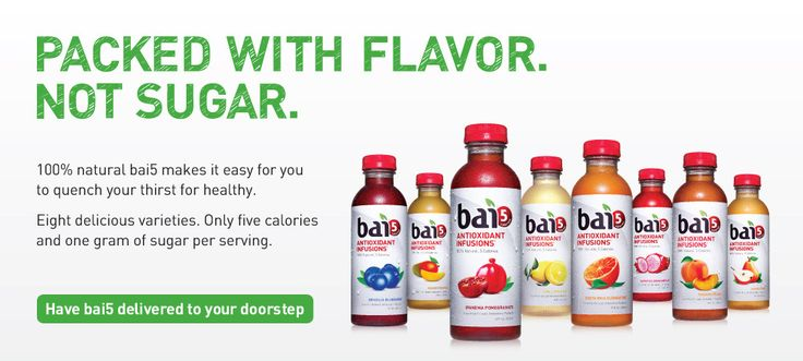 Drink Bai - Naturally fending off free radicals, 5 calories at a time | www.drinkbai.com