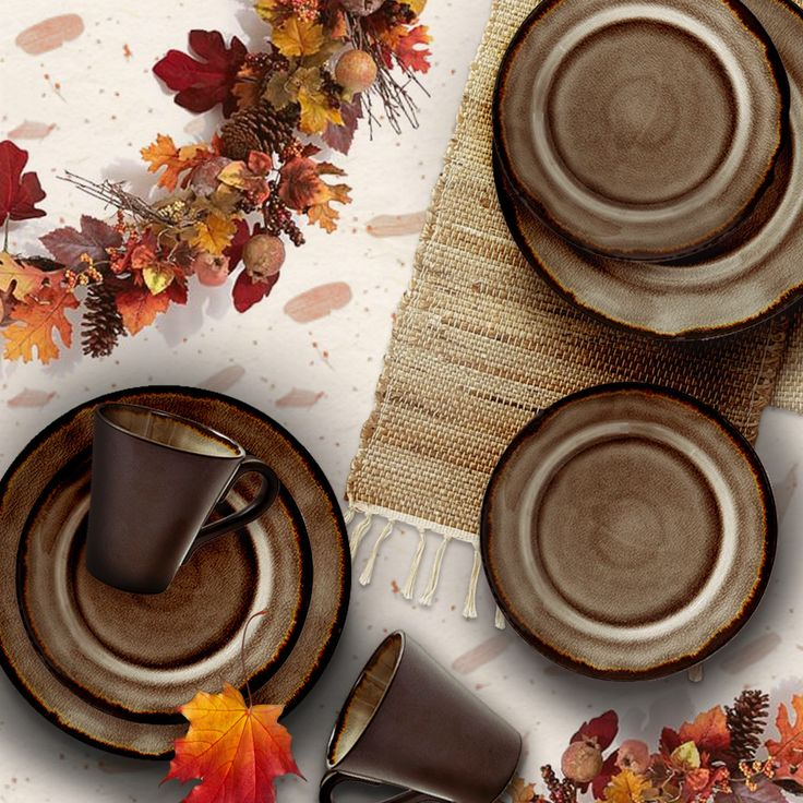 Get inspired by the hues of autumn this Thanksgiving when preparing your Turkey Day feast for friends and family.