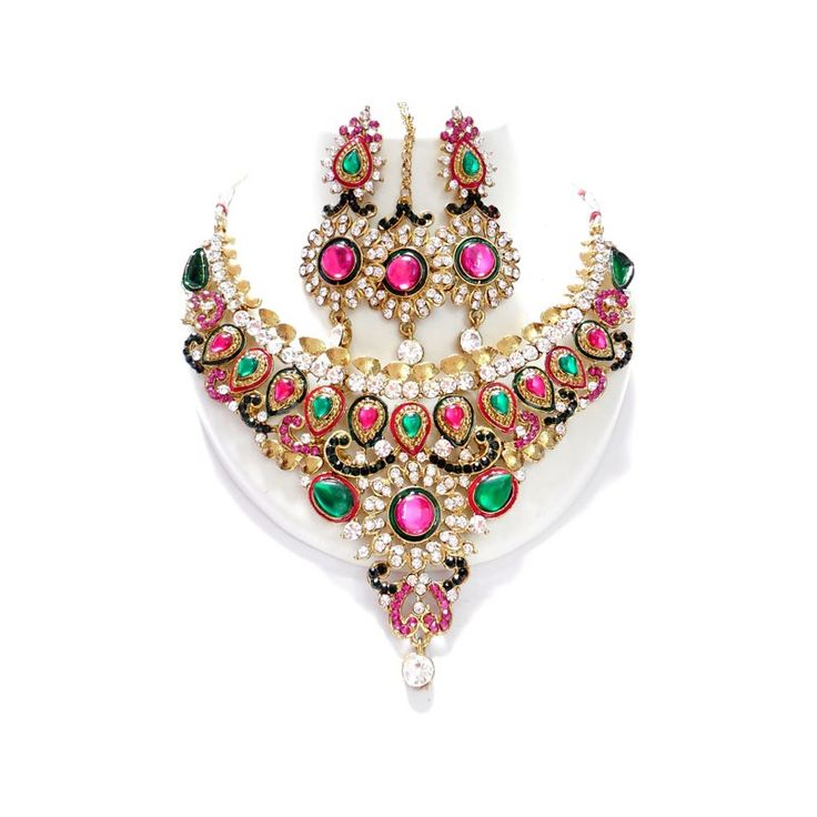 A multicolored Bridal Jewelry Set. Available at skyfashionshop.com
