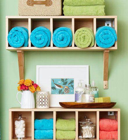 20 diy bathroom storage ideas for small spaces | towels