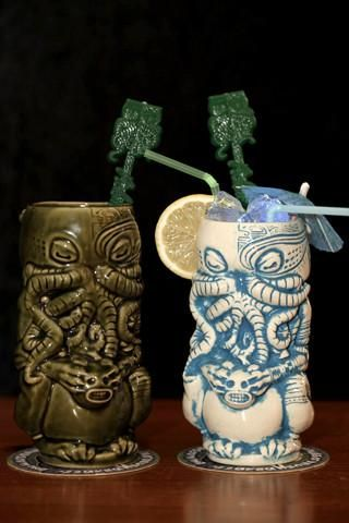 Always two there will be. A master and an apprentice. Or a couple. Or someone dead set on having BOTH HANDS full of Tiki mugs. Either way, have a little bit extra on us for your deep devotion. A pair
