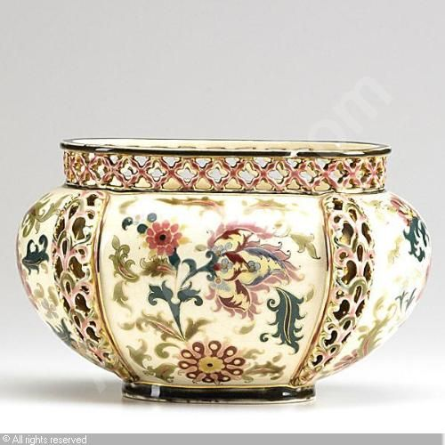 zsolnay~porcelain~Reticulated