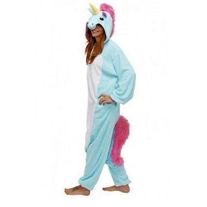 Combinaison Licorne Animaux Costume Cosplay Pyjama Kigurumi Grenouillère pour Adulte Unisexe Déguisement Détente Festival Carnaval (L (Convenable 172cm-178cm), Bleu): Amazon.fr: Jeux et Jouets