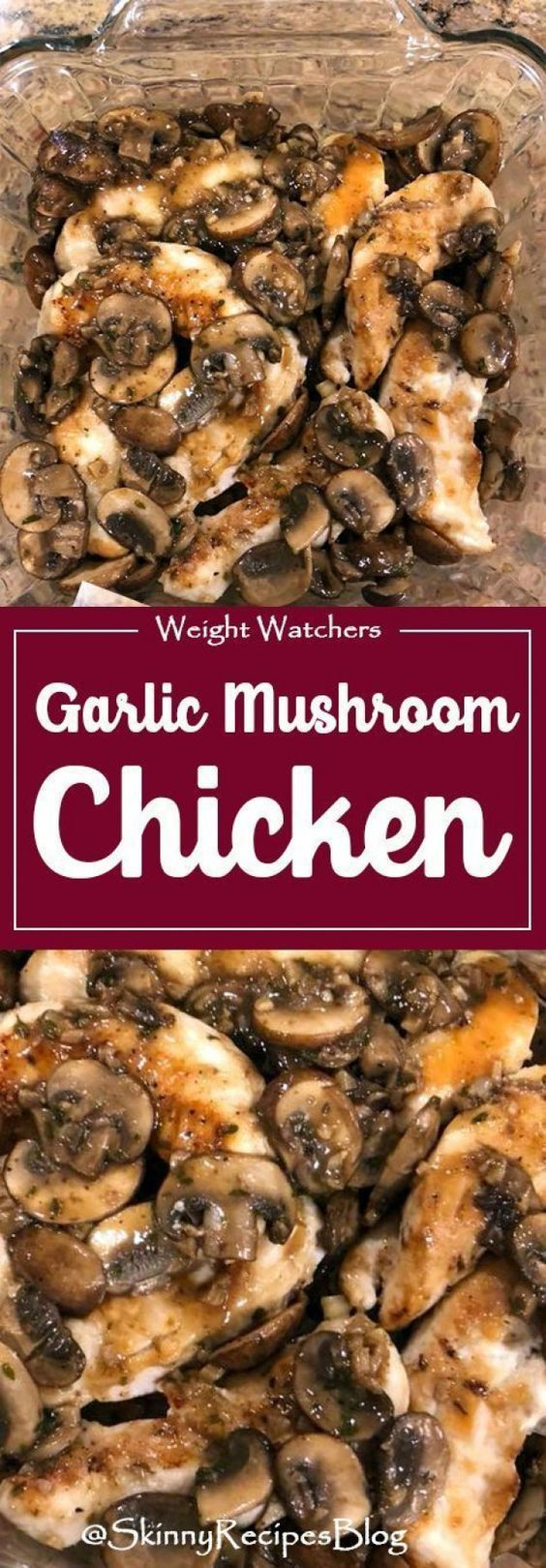 Chicken and mushrooms in a white wine sauce with garlic   – Delicious Eats