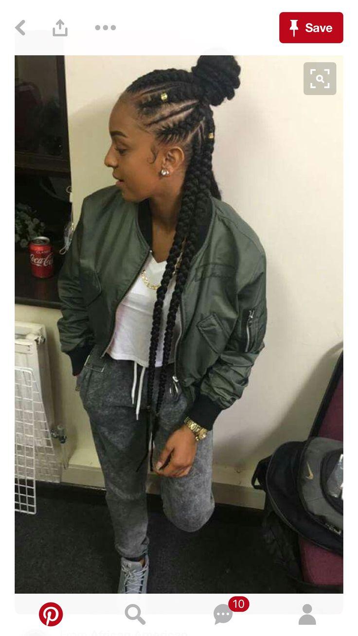 best hairstyles images on pinterest big braids black girl