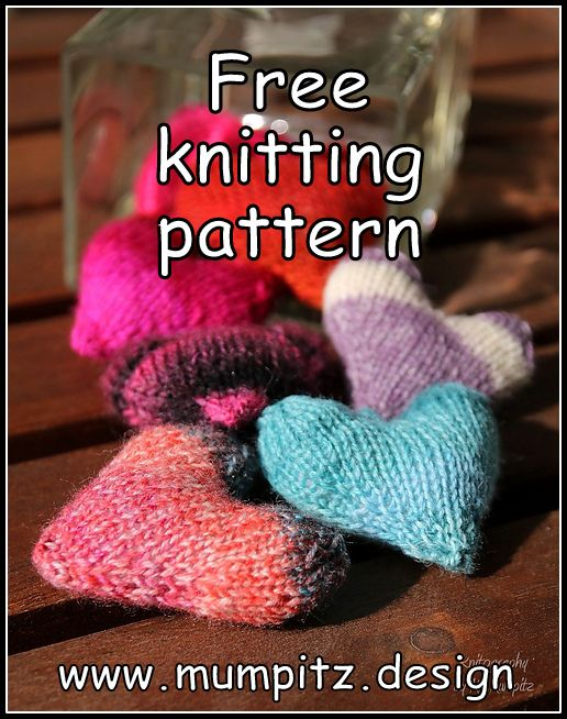 Knit Hearts To Be My Valentine Free Pattern Knitting Pinterest