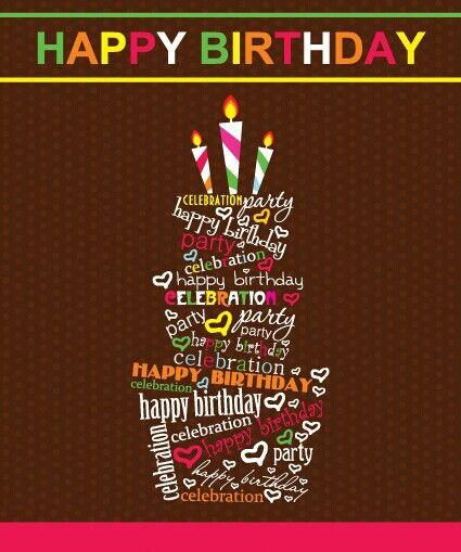 Happy Birthday .... cake made of many words ^_^