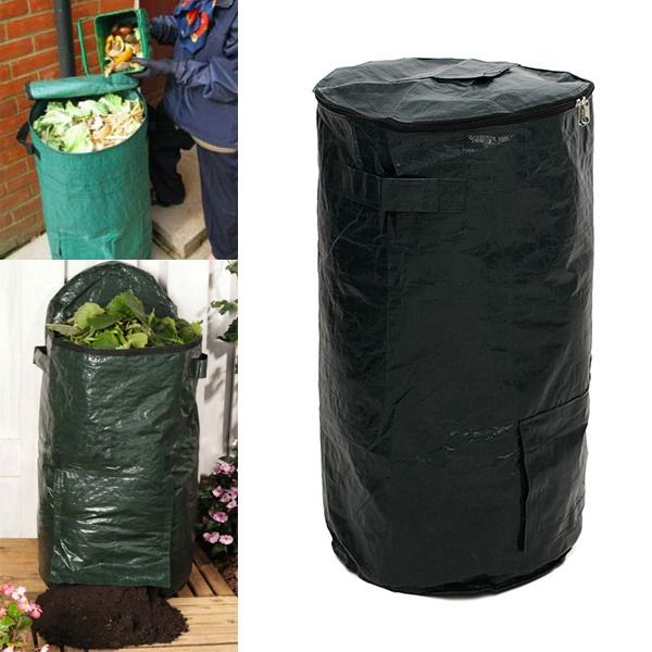 "merlinsgardenmarket: ""  60L Garden Organic Waste Kitchen Waste Compost Bag Environmental PE Cloth Planter Bag You also want to dispose of your organic waste in a natural way and at the same time produce perfect fertilizer? This garden bag composters..."