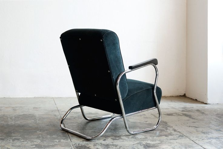 "Art Deco Chrome Lounge Chair ""E Shape "" C 1930'S | eBay"