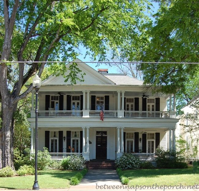 Two story porches build a porch way up high beautiful for Double storey victorian homes