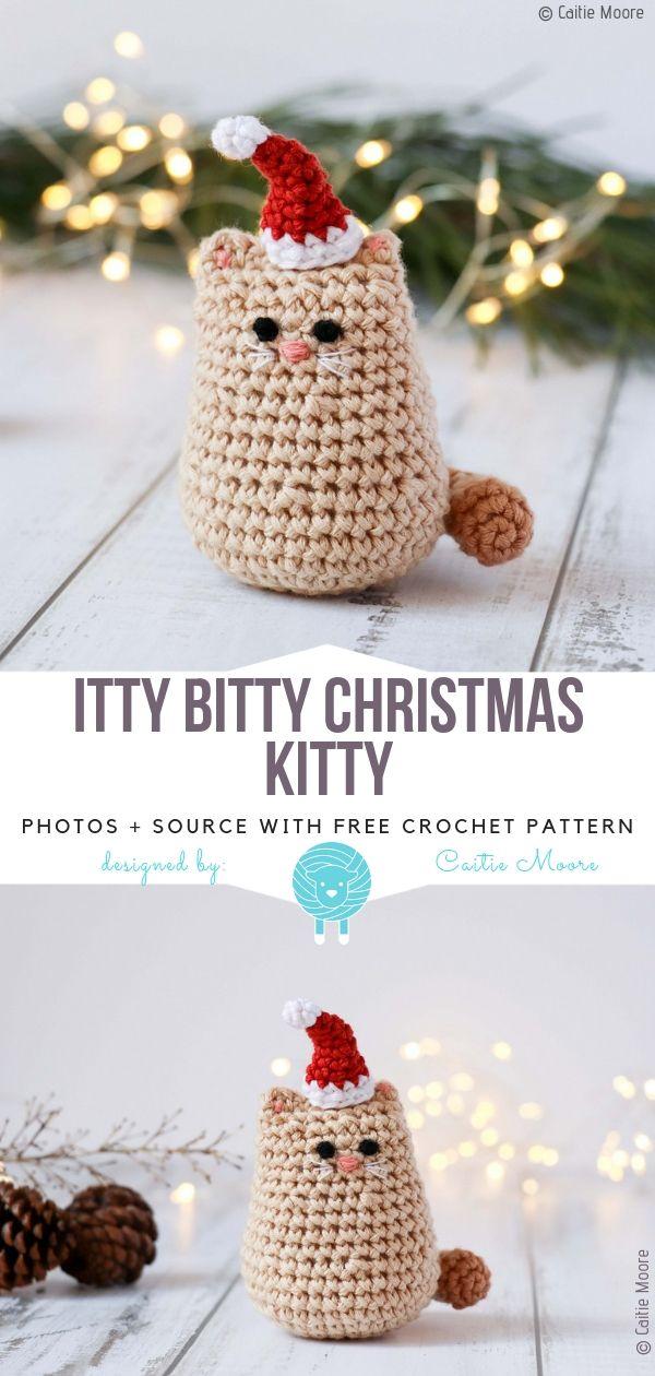 Itty Bitty Christmas Kitty Free Crochet Pattern | KEY CHAINS ...