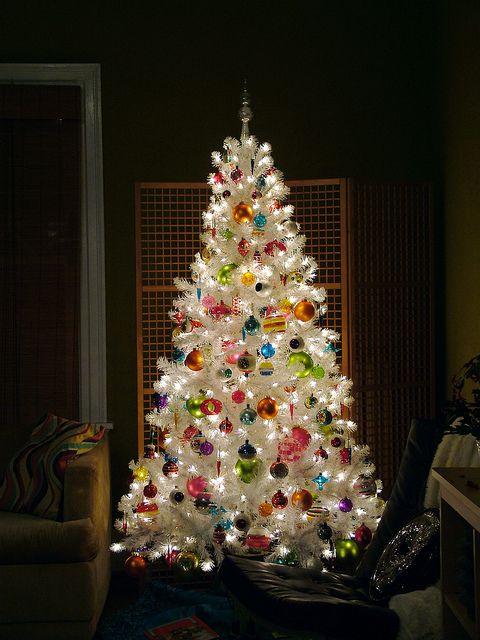 white #christmas tree