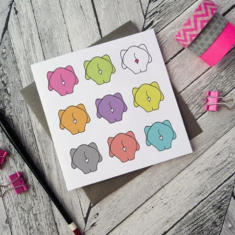 @beedesigns on Instagram multi colour elephants bottoms