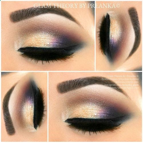 A pop of Purple with Gold, A perfect Holiday Look i did using @Ashley Walters Walters Urban Decay Cosmetics #VICE2 palette.