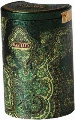 Basilur Tea Orient Collection te dåse i smart design. Med grøn mint te. Der er flere farver og smage i denne kollektion. Se mere i shoppen Romantiske-Gaver.dk