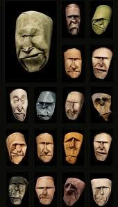 toilet paper roll faces ~ interesting