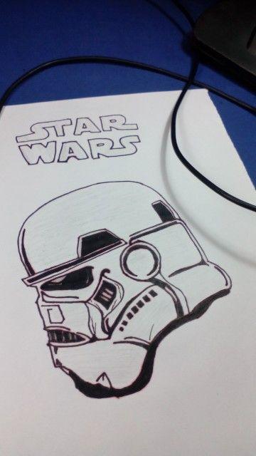 Star wars - stormtrooper Visite nos no YOUTUBE - Desenho-Loko