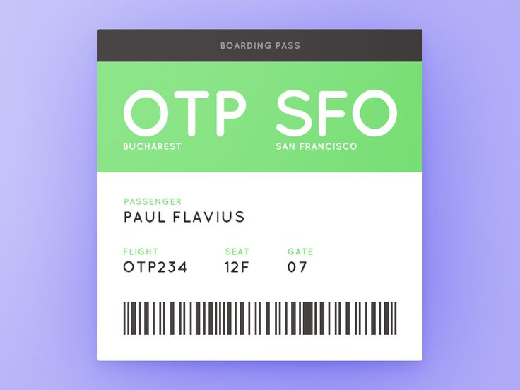 Welcome to Daily UI Elements for 100 days straight (including weekends and holidays). This is day 074. My challenge for today is a Boarding Pass. I invite you all to rebound this shot and creat...