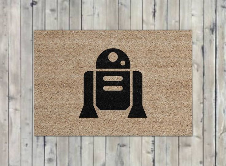 R2-D2 robot welcome mat by Black Wulf Handcrafted for sale on http://hellopretty.co.za