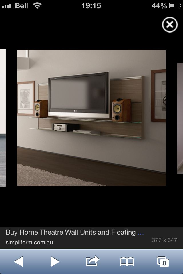 Floating tv wall entertainment unit modern