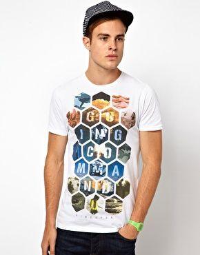 Bild 1 von Ringspun – Commando – Bedrucktes T-Shirt