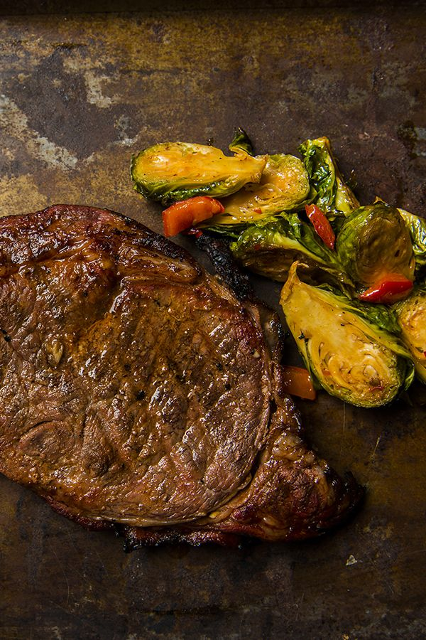 how to cook a thick ribeye steak