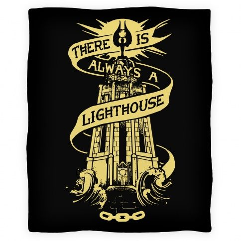 There Is Always A Lighthouse. This pillow would make me sad all the time but I still love it!