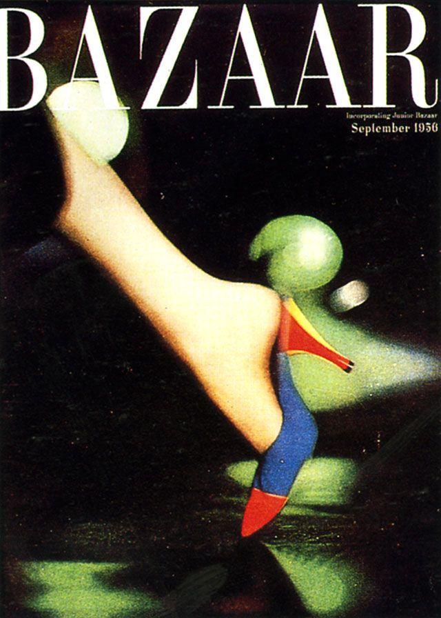 Harper's Bazaar Cover Art Direction, Alexey Brodovitch, September 1956.