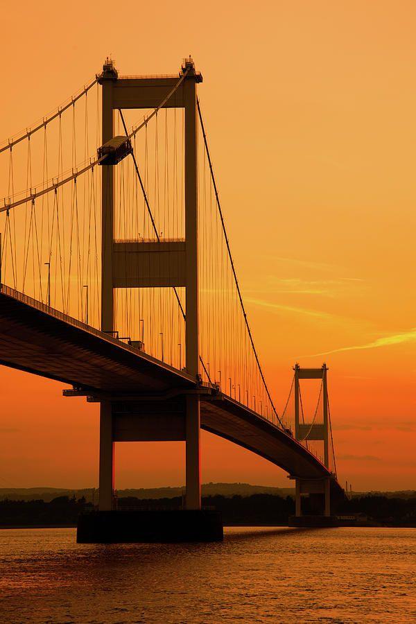 Severn Bridge Sunset This is the Old Bridge