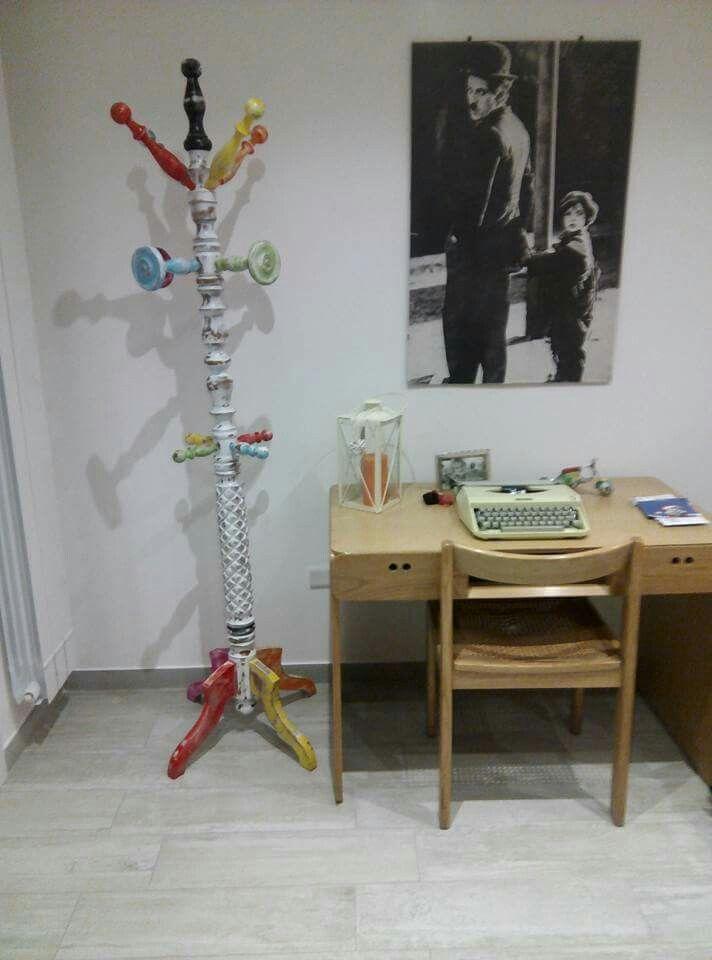 Vecchio attaccapanni rielaborato by ri-lab artigiani del riciclo www.facebook.com/rilabart