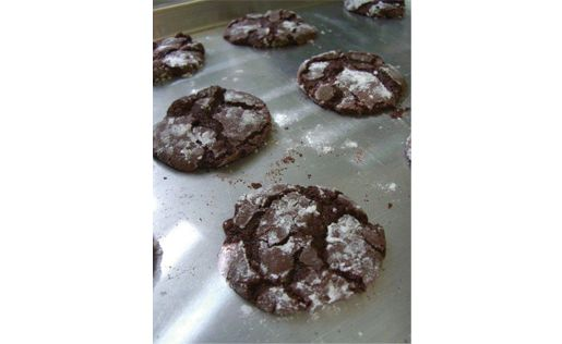 Chocolate Snowball Cookies From the Cake Doctor.  Her favorite recipe using a chocolate cake mix to start with!