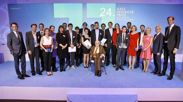24. Axel-Springer-Preis für junge Journalisten verliehen: Ihr seid heiß, ihr habt den Preis! http://www.bild.de/politik/inland/journalistenpreis/journalistenpreis-verliehen-40759804.bild.html
