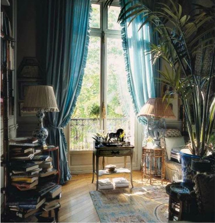 World of Interiors: November 2012 issue; gorgeous green apartment of KK Auchincloss on the Place des Etats-Unis in the 16th arrondissement.