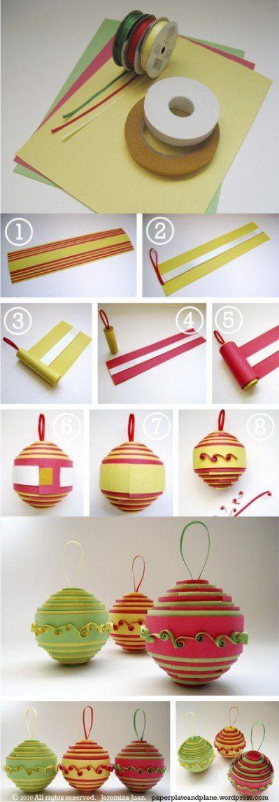 Decoración de navidad con papel doblado - paperplateandplane.wordpress.com