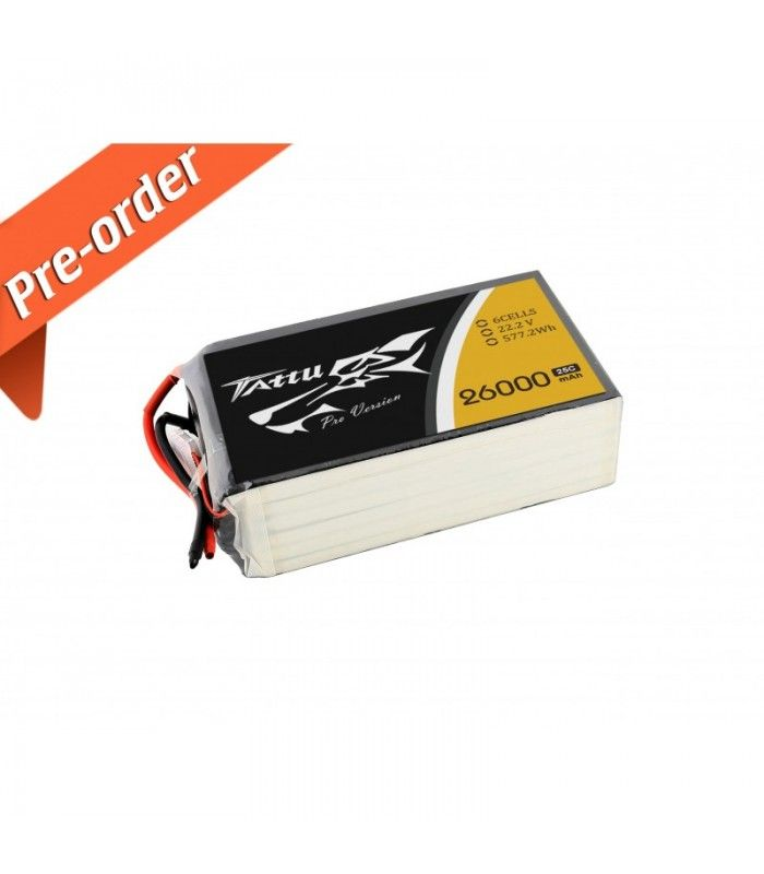 New Gens ACE Tattu 26000mAh 22.2V 25C 6S1P Lipo Battery Pack -10% to still 15.11.2015